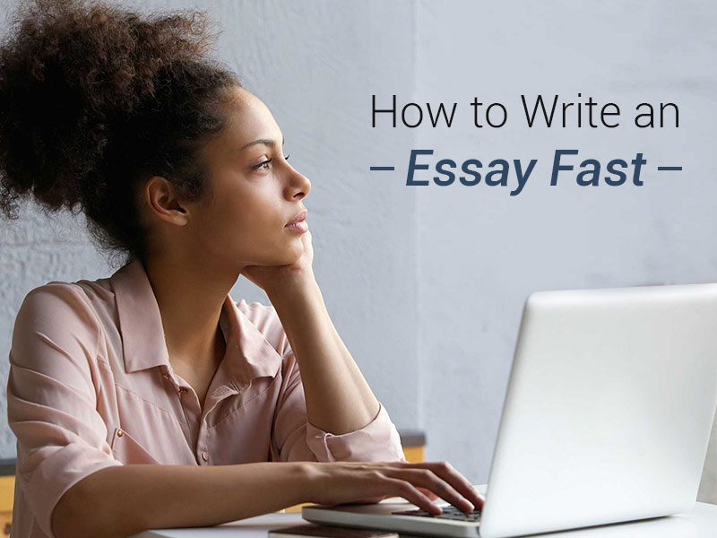 How to write essays faster