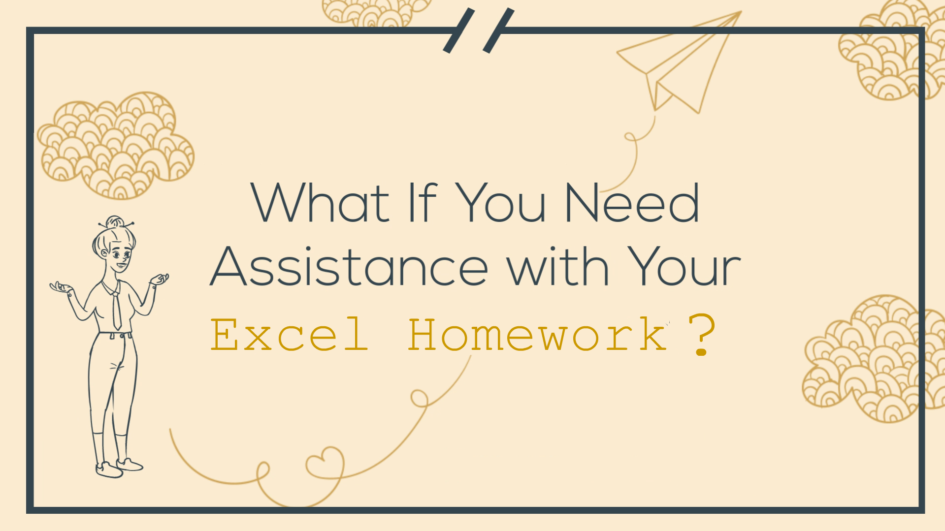 help with excel homework